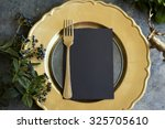 Gold Place Setting With Empty...