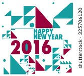 happy new 2016 year. colorful... | Shutterstock .eps vector #325706120