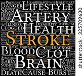stroke word cloud on a white... | Shutterstock .eps vector #325709630