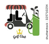 golf concept with league icons... | Shutterstock .eps vector #325710254