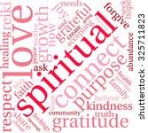 spiritual word cloud on a white ... | Shutterstock .eps vector #325711823