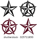 vintage distressed western stars | Shutterstock .eps vector #325711850