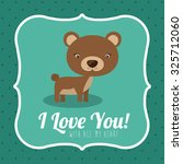 love concept with cute animal... | Shutterstock .eps vector #325712060
