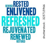refreshed word cloud on a white ... | Shutterstock .eps vector #325715966