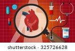 heart disease attack human... | Shutterstock .eps vector #325726628