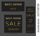 best offer sale. black banners... | Shutterstock .eps vector #325728728