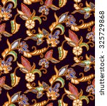 seamless floral beautiful batik ... | Shutterstock . vector #325729868