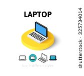 laptop icon  vector symbol in...
