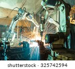 team welding robots represent... | Shutterstock . vector #325742594