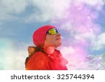 woman's face in mountains ... | Shutterstock . vector #325744394