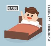 businessman wake up early ... | Shutterstock .eps vector #325755956