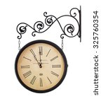 close up of old  retro clock... | Shutterstock . vector #325760354