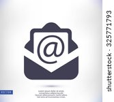 email message flat icon | Shutterstock .eps vector #325771793
