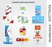 tri fold brochure design vector ... | Shutterstock .eps vector #325775426