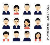 business avatars. avatars girls ...   Shutterstock .eps vector #325777328