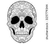 day of the dead sugar skull... | Shutterstock .eps vector #325779344