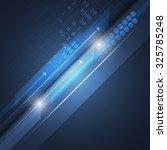 abstract technological vector...   Shutterstock .eps vector #325785248