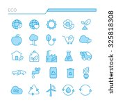 stock vector set of flat thin... | Shutterstock .eps vector #325818308