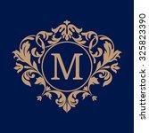 elegant monogram design... | Shutterstock . vector #325823390
