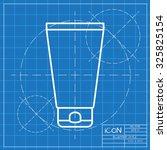 vector classic blueprint of... | Shutterstock .eps vector #325825154