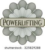 powerlifting linear rosette | Shutterstock .eps vector #325829288