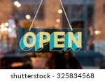 open vintage wooden sign broad... | Shutterstock . vector #325834568