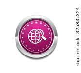 globe sign pink vector button... | Shutterstock .eps vector #325835324