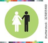 interracial couple icon.   Shutterstock .eps vector #325855400