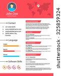 minimalist cv  curriculum vitae ... | Shutterstock .eps vector #325859324