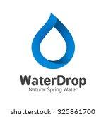 blue mineral bottled spring...   Shutterstock .eps vector #325861700