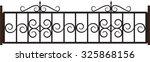 vector shod fence | Shutterstock .eps vector #325868156