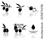 set of olive icons with mirror... | Shutterstock .eps vector #325874198