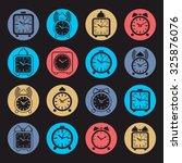 simple alarm clocks with clock... | Shutterstock .eps vector #325876076