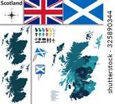 vector map of scotland with...