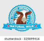 fresh natural milk graphic with ... | Shutterstock .eps vector #325899416