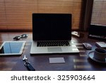 mock up of office or home... | Shutterstock . vector #325903664