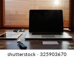 mock up of freelance desktop... | Shutterstock . vector #325903670