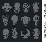 Set Of Scary Monsters Skull...