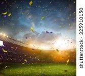 evening stadium arena soccer... | Shutterstock . vector #325910150