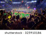 fans on stadium game  | Shutterstock . vector #325910186