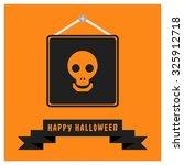 dead face skull icon. black... | Shutterstock .eps vector #325912718