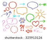 set of comic speech bubbles and ... | Shutterstock .eps vector #325913126