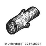 doodle wood logs  vector... | Shutterstock .eps vector #325918334