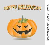 isolated jack o' lantern on a... | Shutterstock .eps vector #325924946