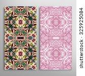 vertical seamless floral... | Shutterstock .eps vector #325925084