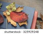 fallen colorful autumn leaves... | Shutterstock . vector #325929248