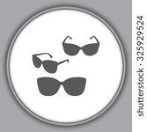 gray sunglasses icon  vector... | Shutterstock .eps vector #325929524