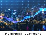panoramic evening new york view ... | Shutterstock . vector #325935143