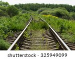 railway disappearing into the...   Shutterstock . vector #325949099