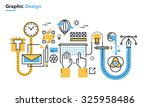 flat line illustration of... | Shutterstock .eps vector #325958486
